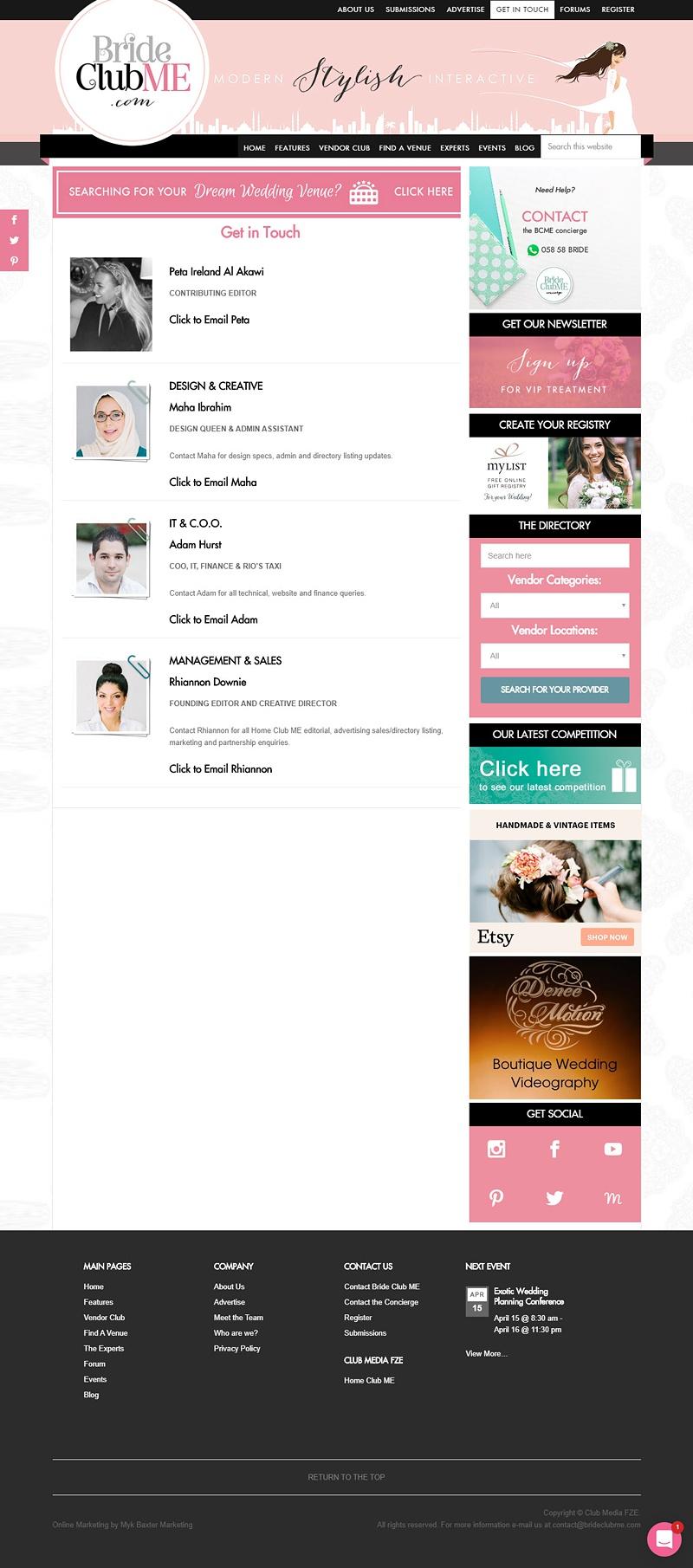 BrideClubMe Contact
