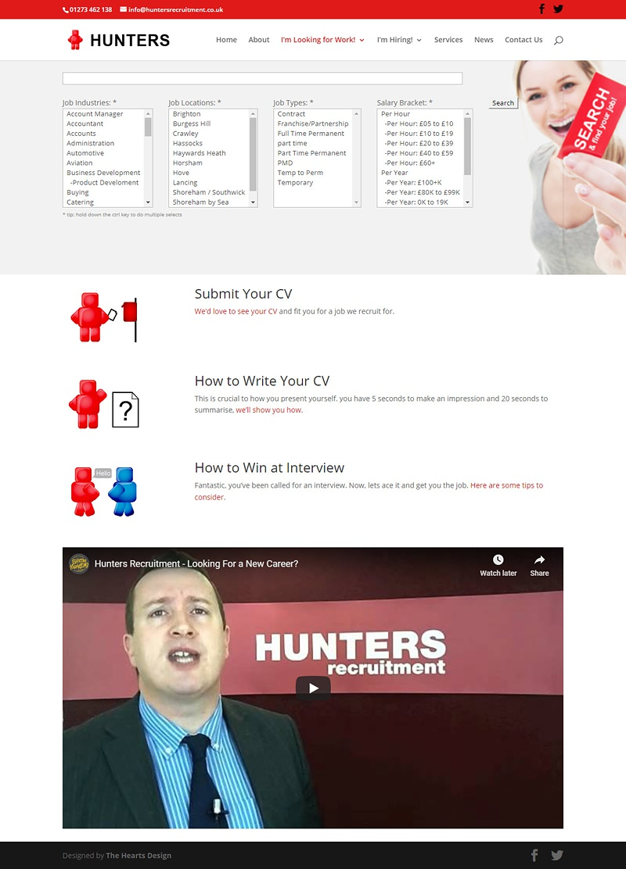 HuntersRecruitment Work WEB