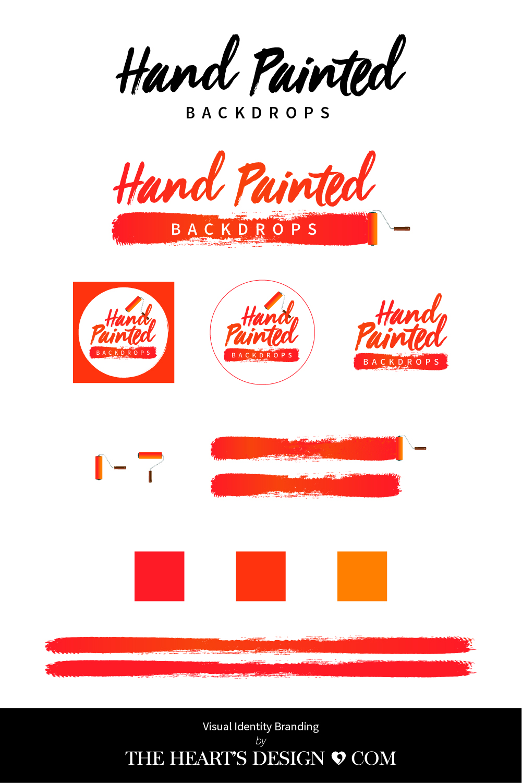 THD BrandingIdentityBoard HandPaintedBackdrops