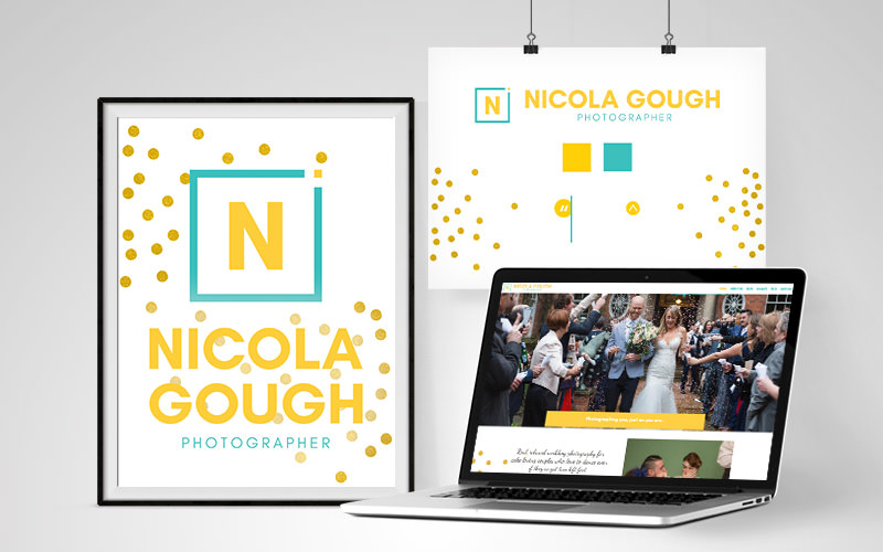 A colourful and fresh, wedding photographers website design and branding