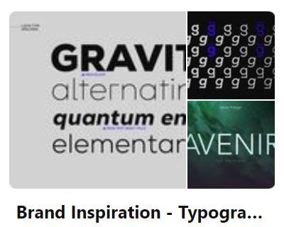 Pinterest Branding Typography