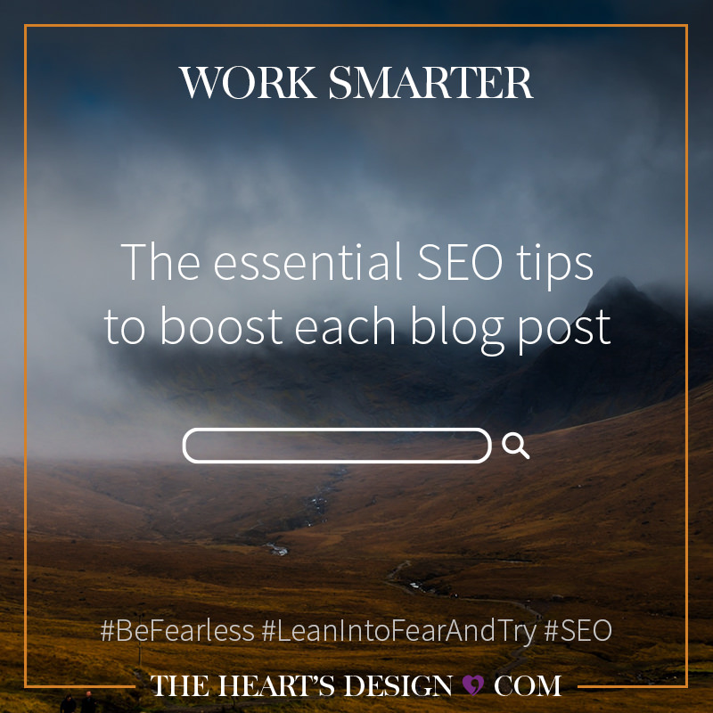 Square marketing image with the blog post title: SEO Tips for Blog Posts