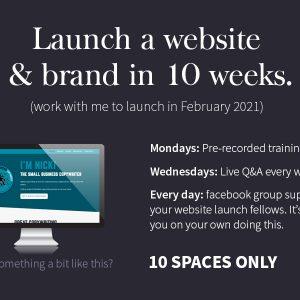 THD Marketing 10WeekWebsiteBrand