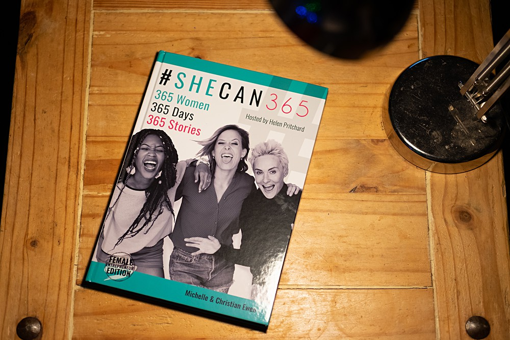The book She Can 365 #shecan365 sharing the business stories of many inspirational entrepreneurial women, including myself.