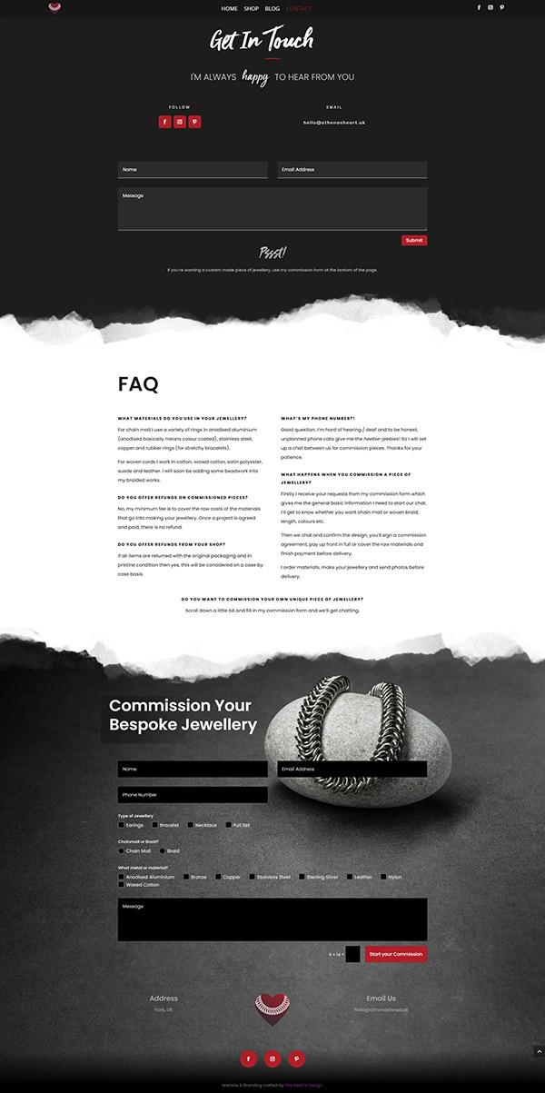 THD Portfolio AthenasHeart Contact